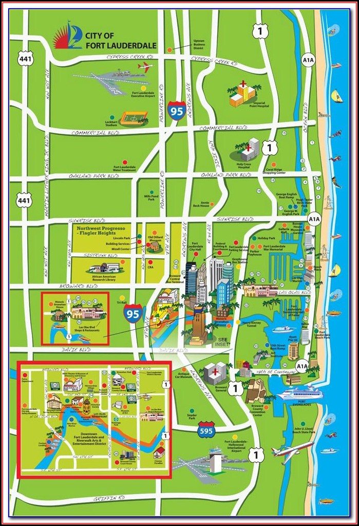 Map Of Hotels On Ft Lauderdale Beach