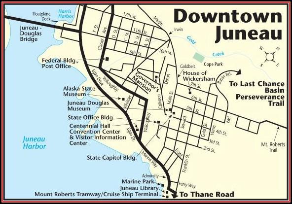 Map Of Juneau Alaska Roads