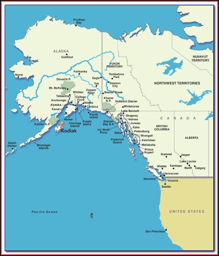 Map Of Kodiak Island Ak