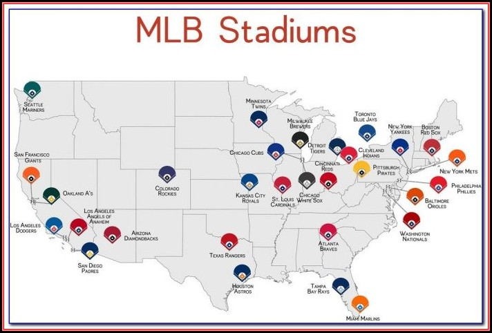 Map Of Mlb Stadiums In California
