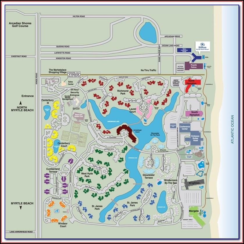 Map Of North Beach Plantation Myrtle Beach Sc