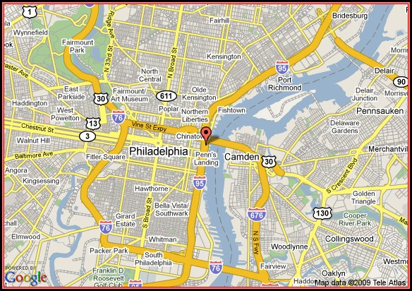 Map Of Philadelphia Historic Area