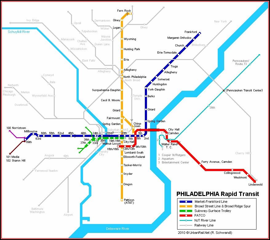 Map Of Philadelphia Subway