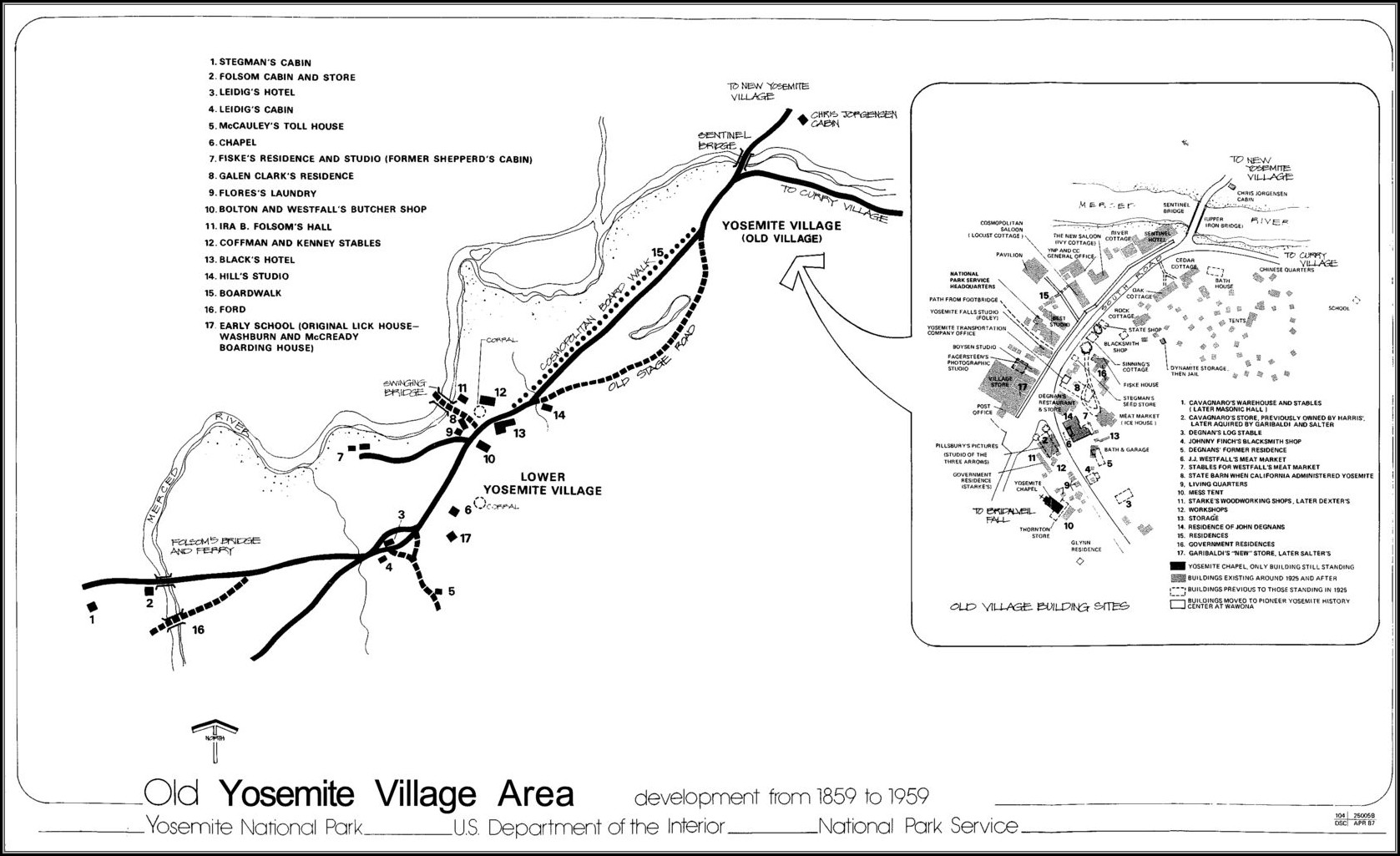 Maps Yosemite Village
