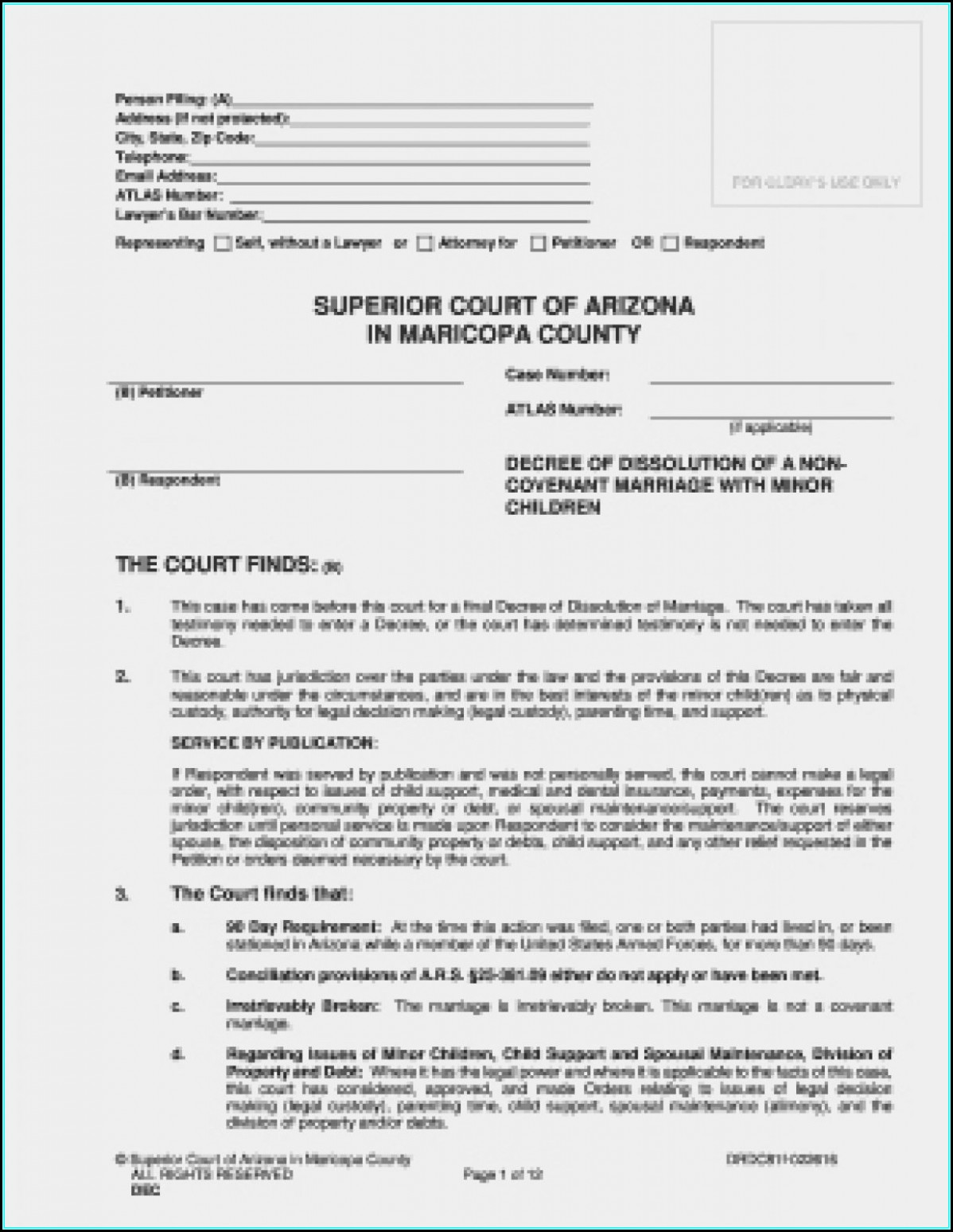 Maricopa County Quit Claim Deed Form