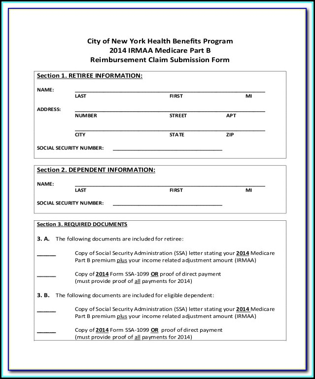 Medicare A Application Form