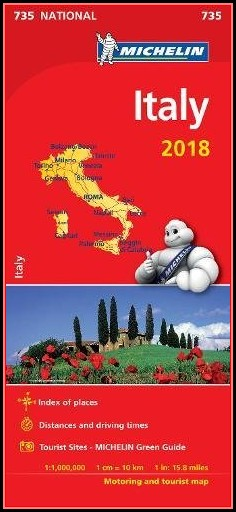 Michelin Map Italy 2018