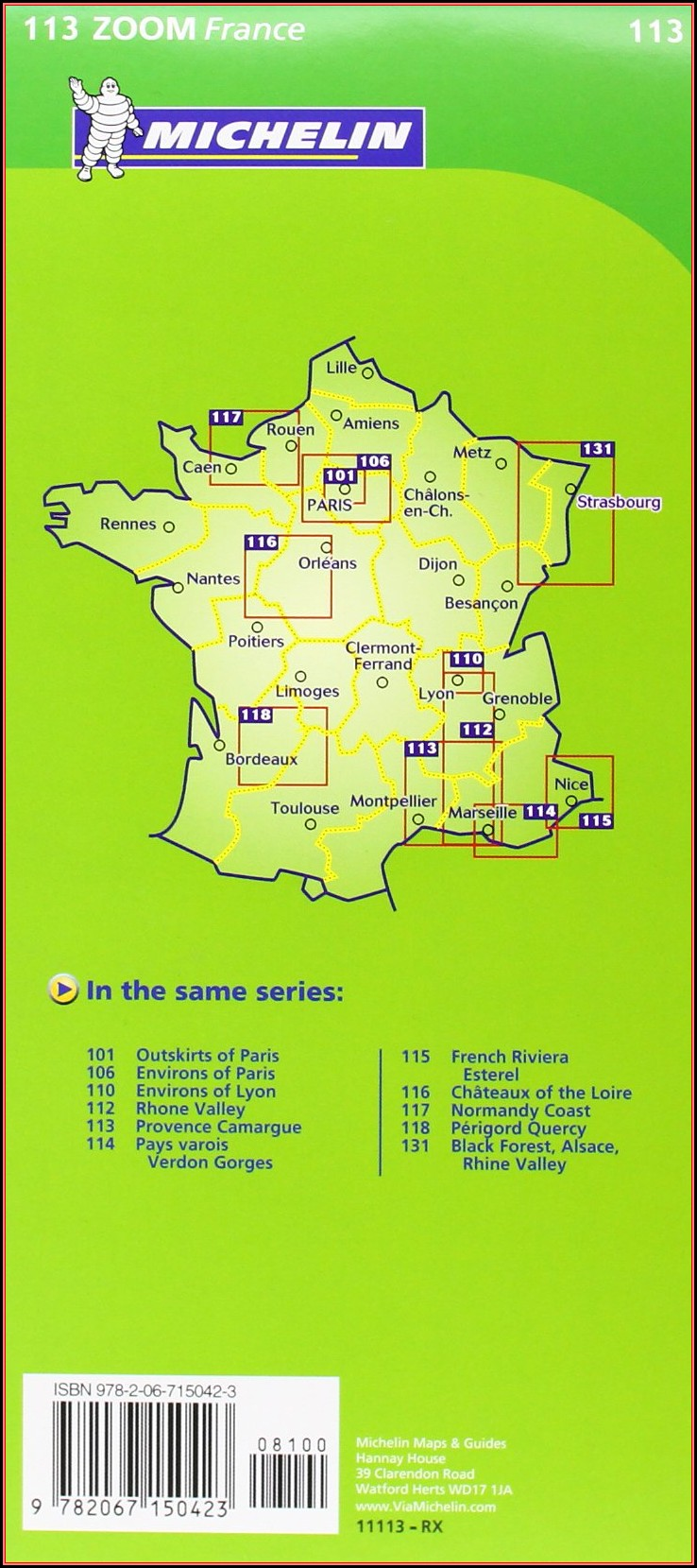 Michelin Map Provence 113