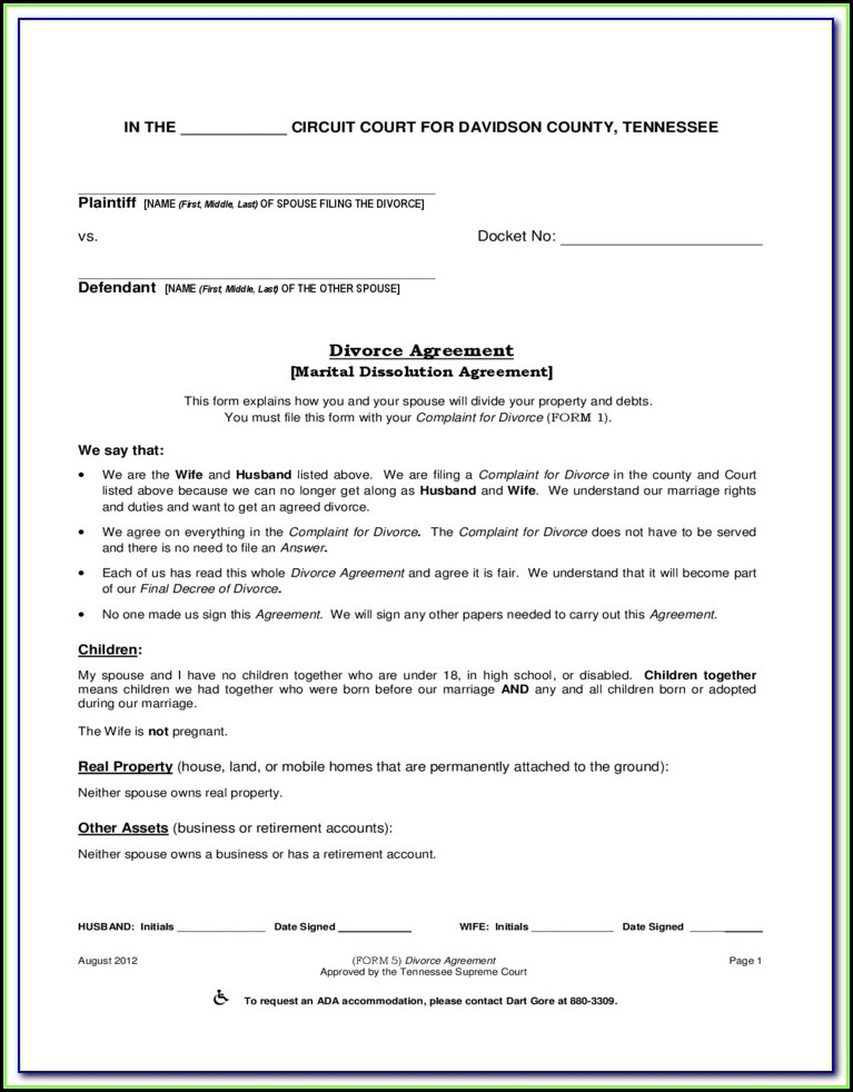 Montgomery County Ohio Dissolution Of Marriage Forms
