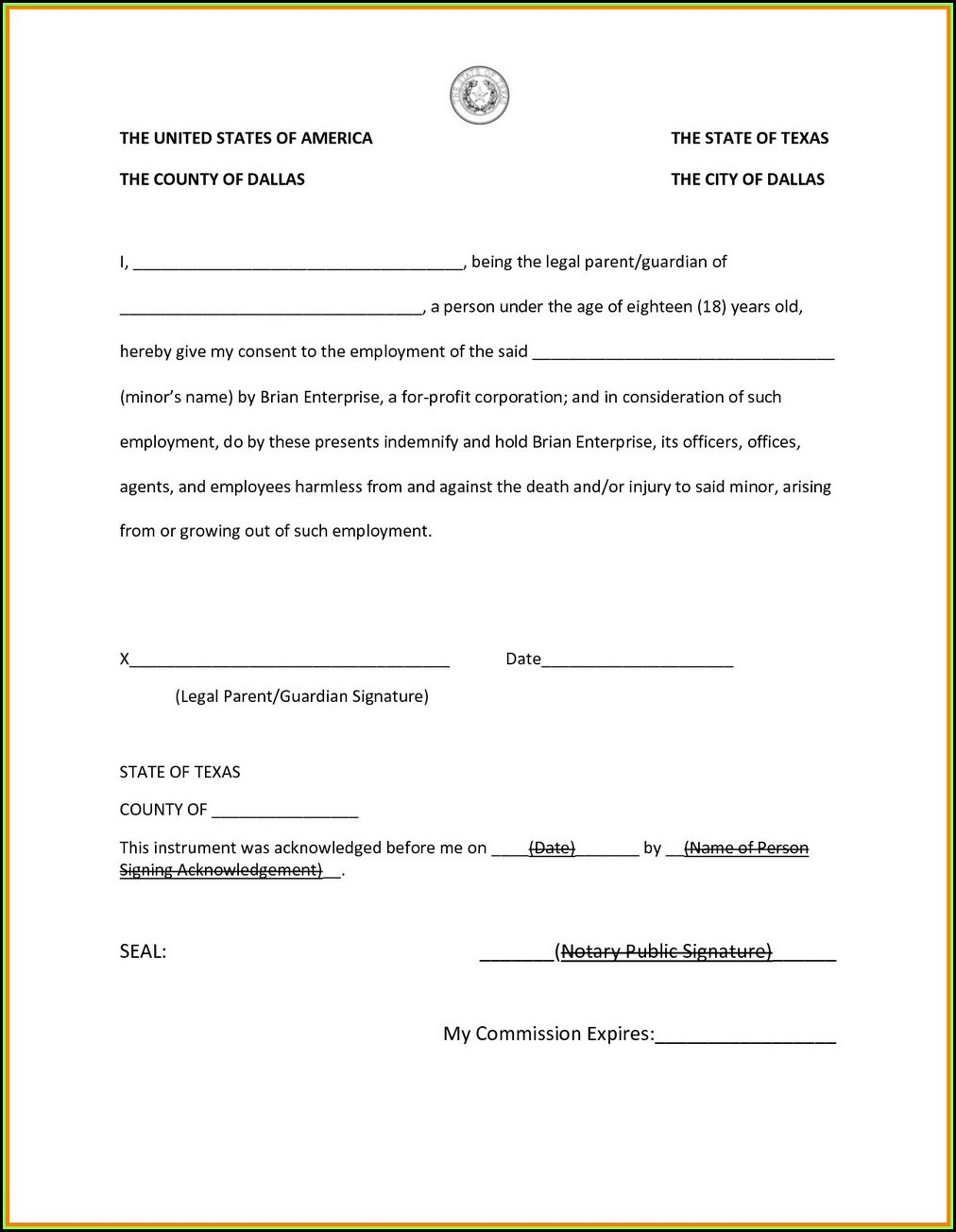 Notary Public Forms Online