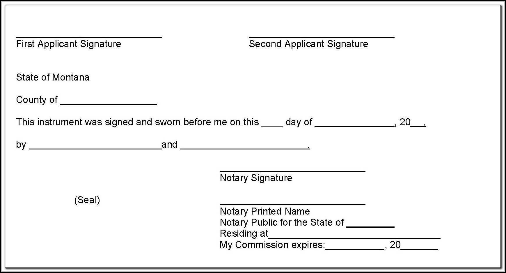 Notary Public Forms