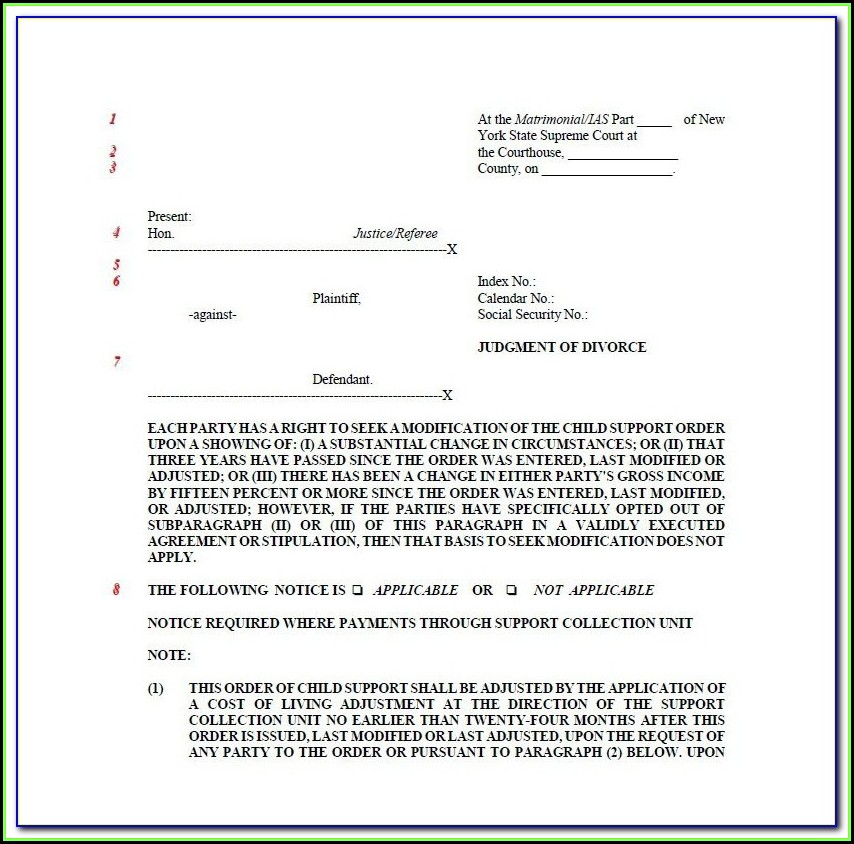 Ny Uncontested Divorce Papers