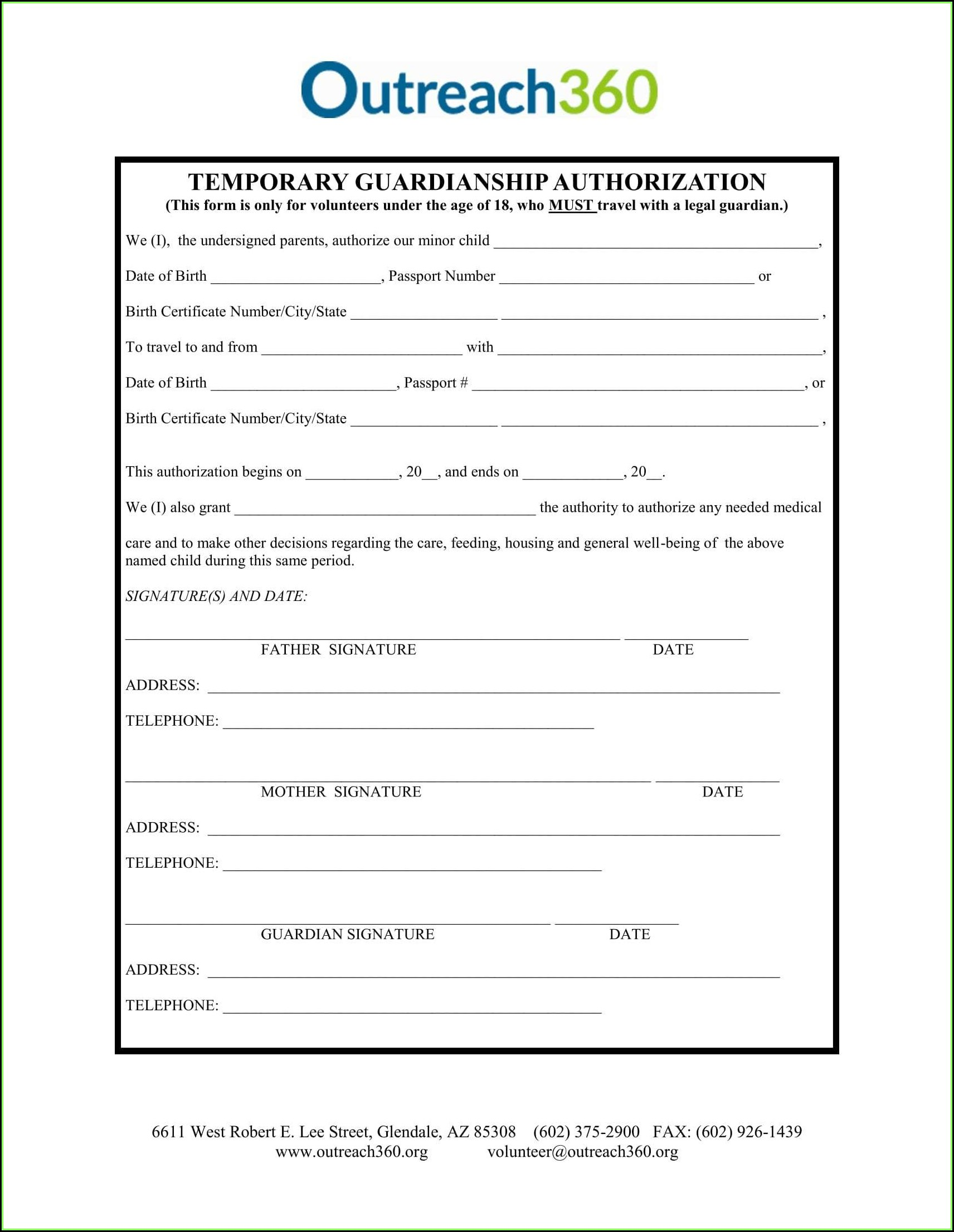 Oregon Child Guardianship Forms
