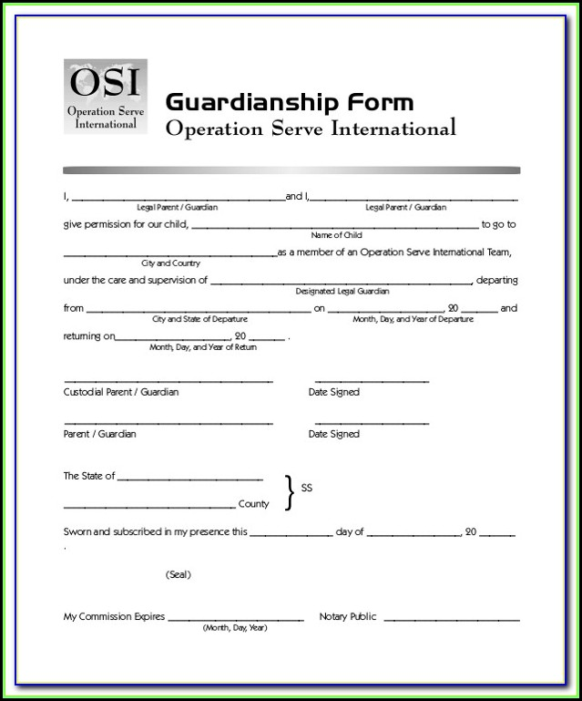 Pa Legal Guardianship Forms
