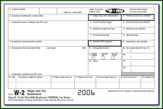 Printable W2 Form For Employees 2015