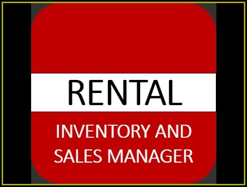 Rental Inventory And Sales Manager Excel Template