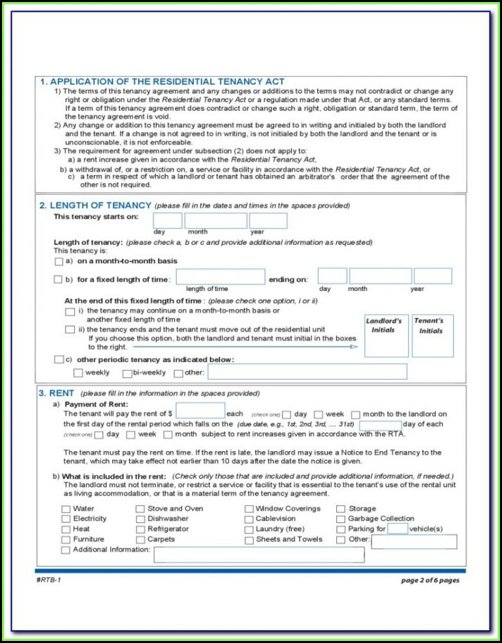 Rental Tenancy Forms Nsw