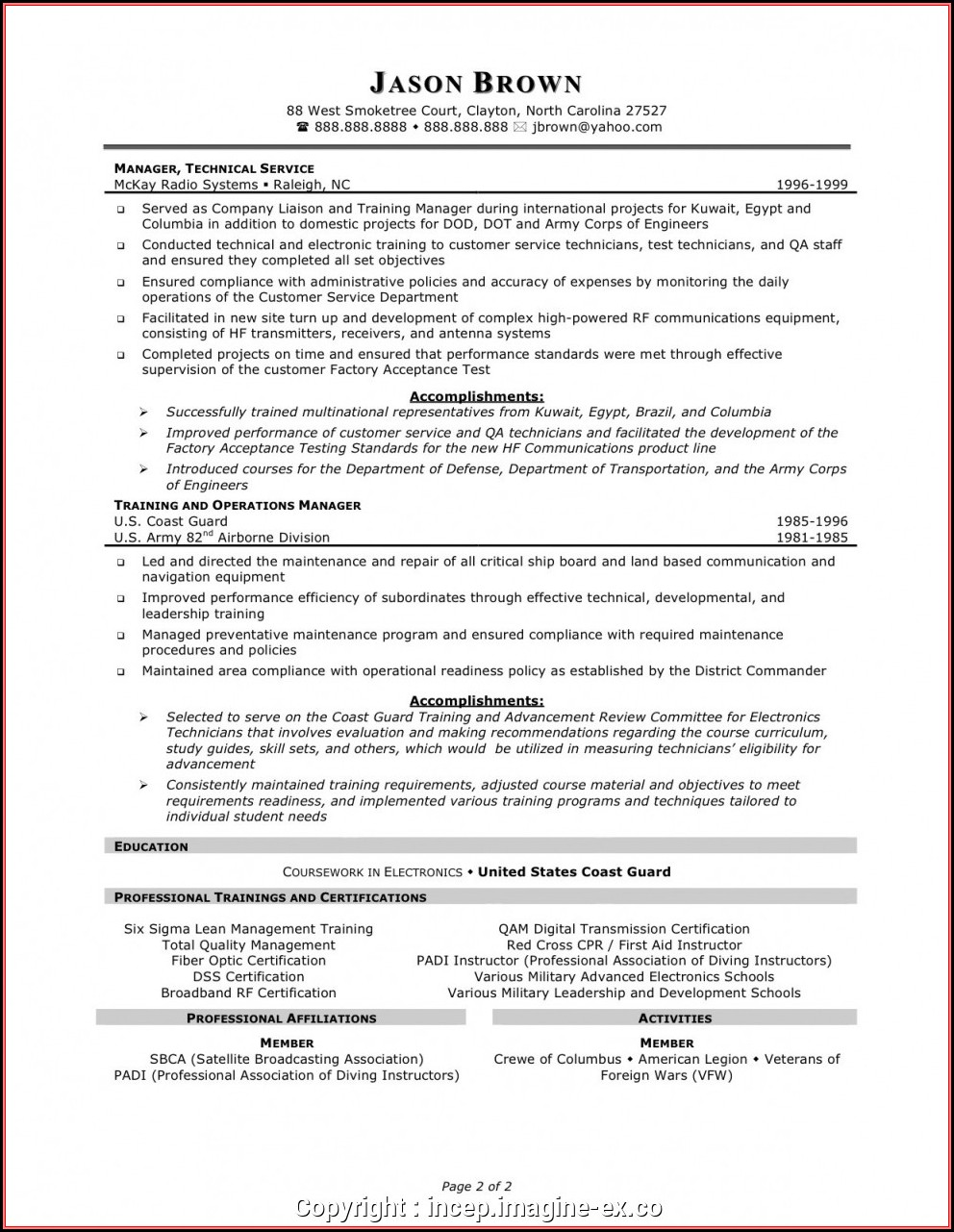 Resume Templates For Customer Service Manager