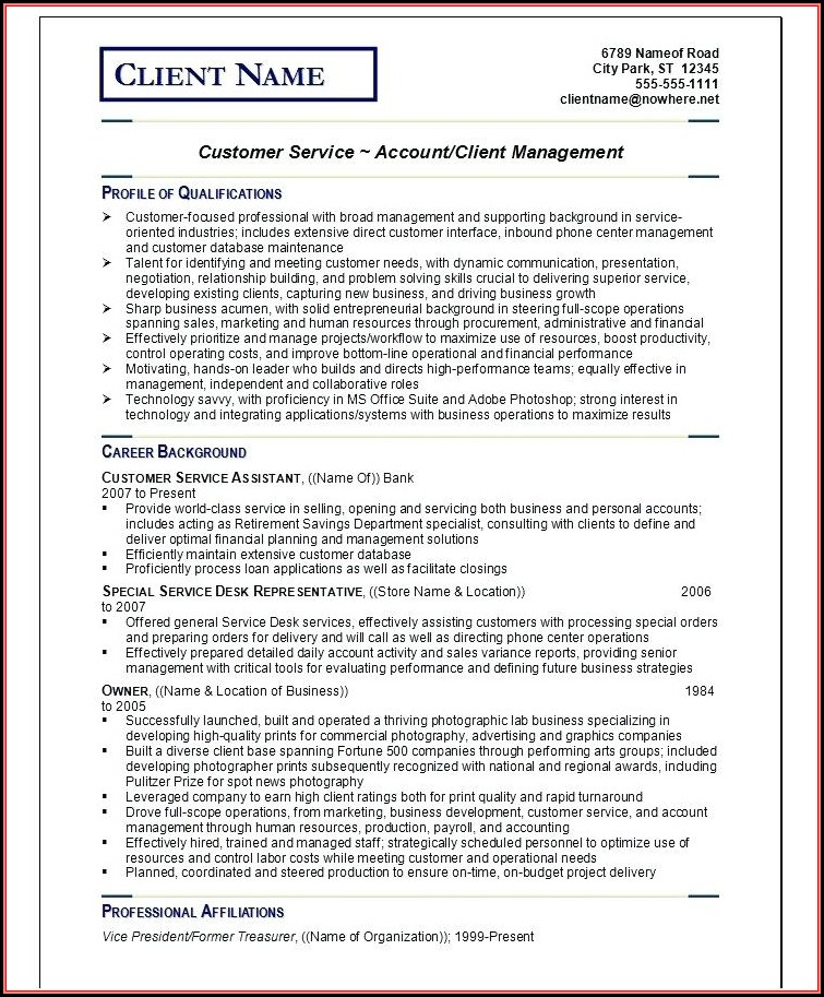 Resume Writing Tips And Samples Pdf