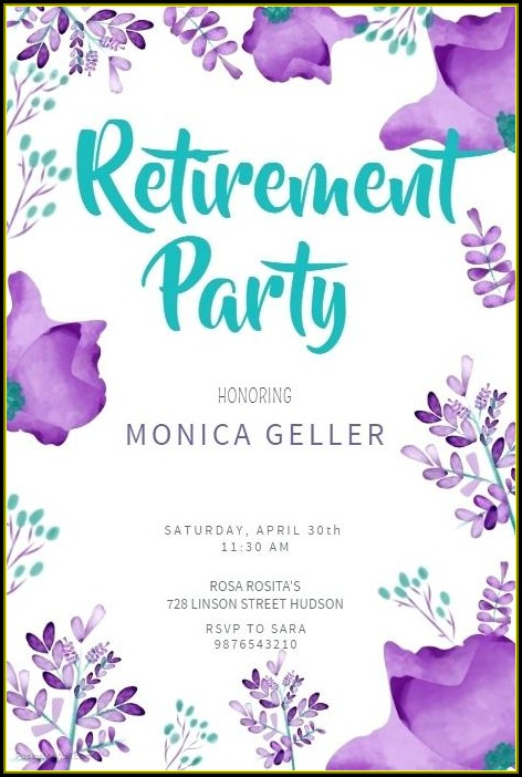 Retirement Party Poster Template Free