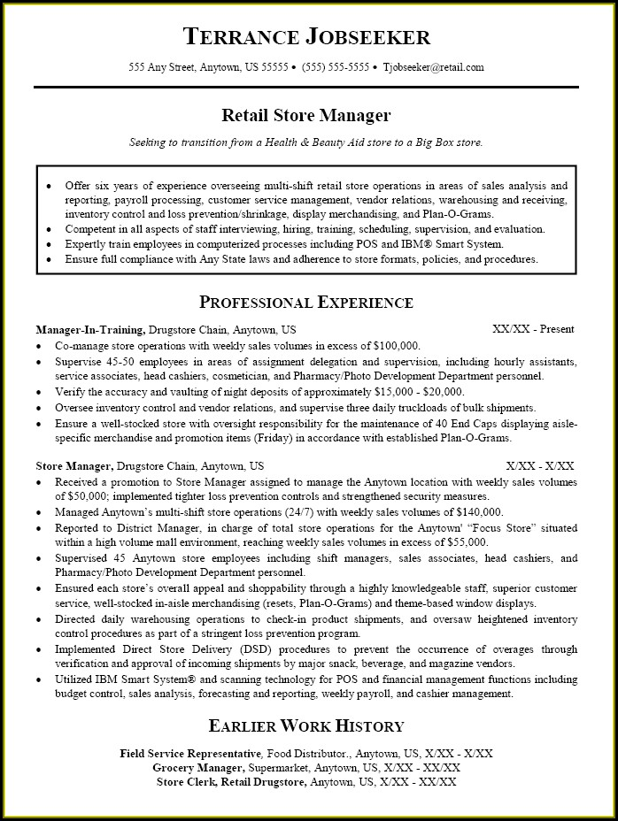 Sales Manager Resumes Templates