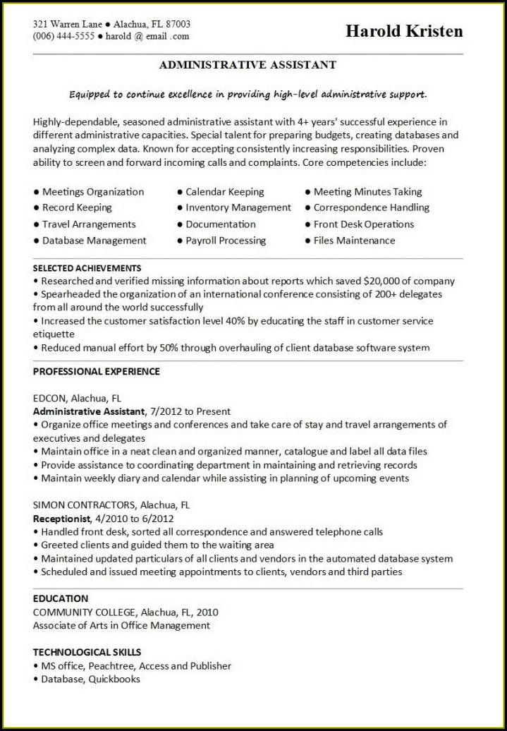 Sales Resume Templates 2017