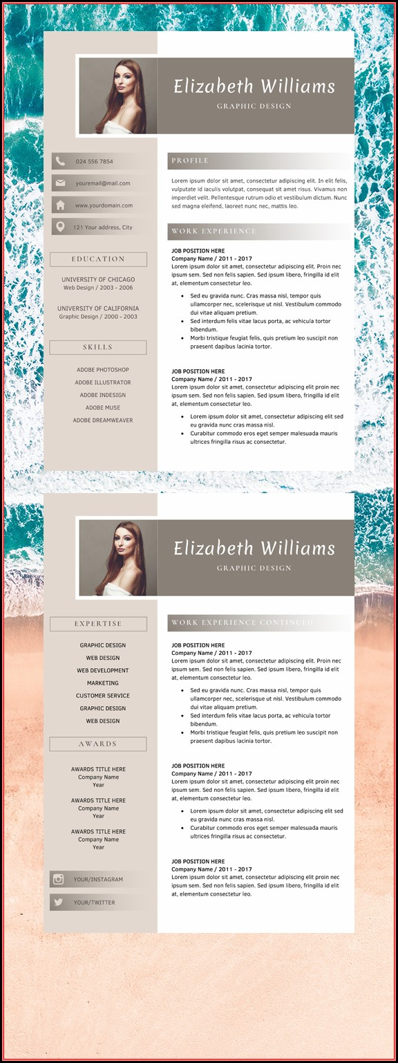 Simple Resume Format Word Editable