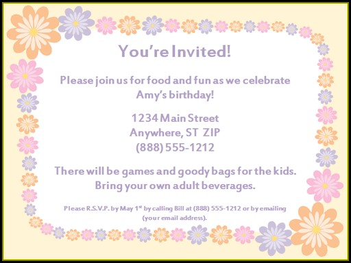 Tea Party Invitation Format