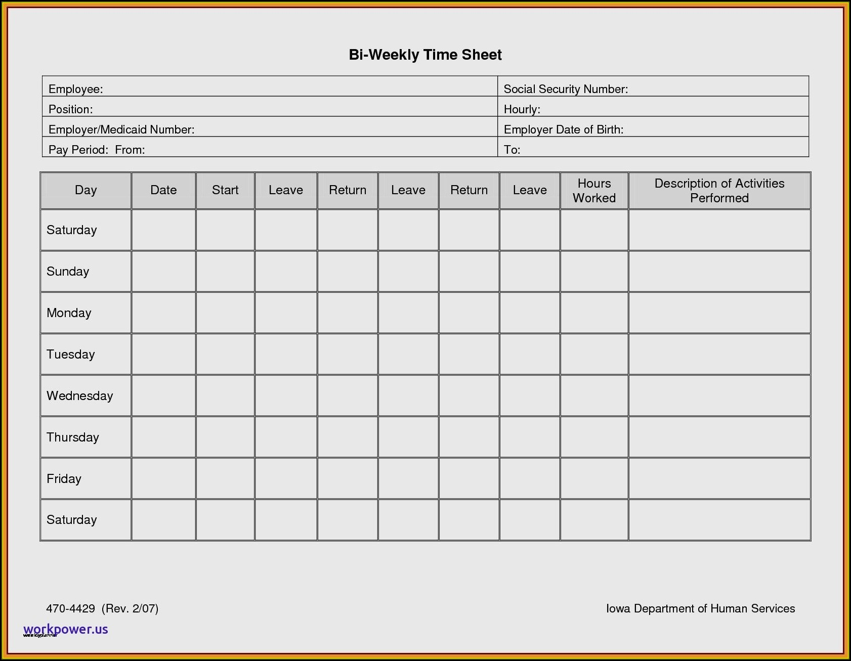 Time And Motion Study Template Excel Free