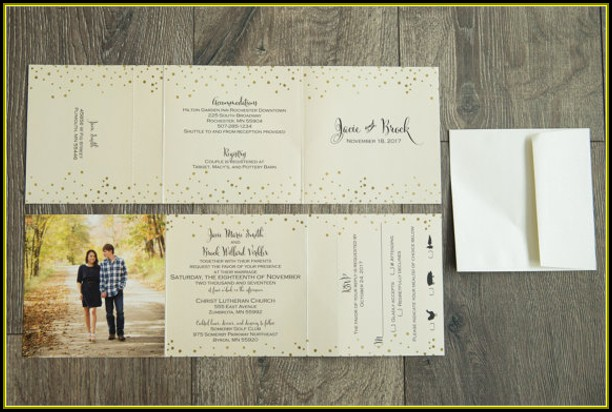 Tri Fold Wedding Invitations Template Free