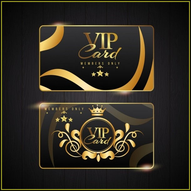 Vip Card Design Template