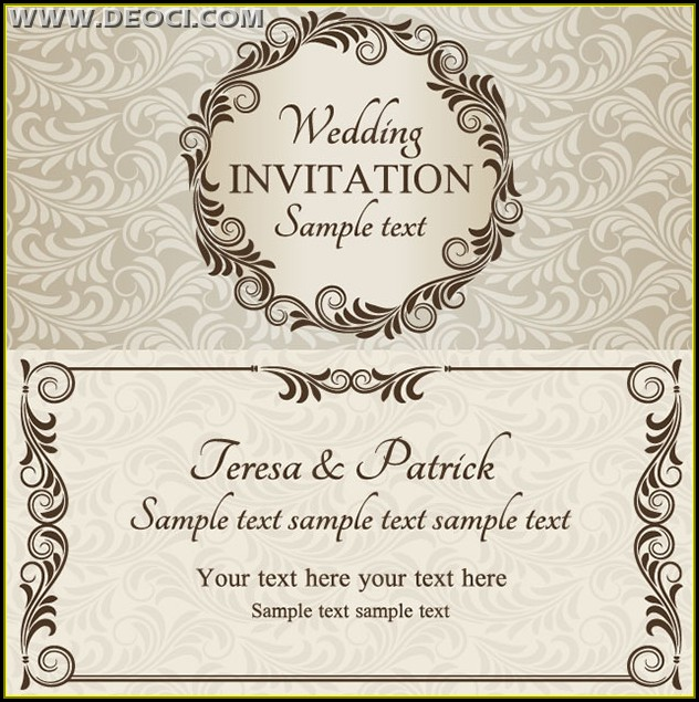 Wedding Card Invitation Template Download