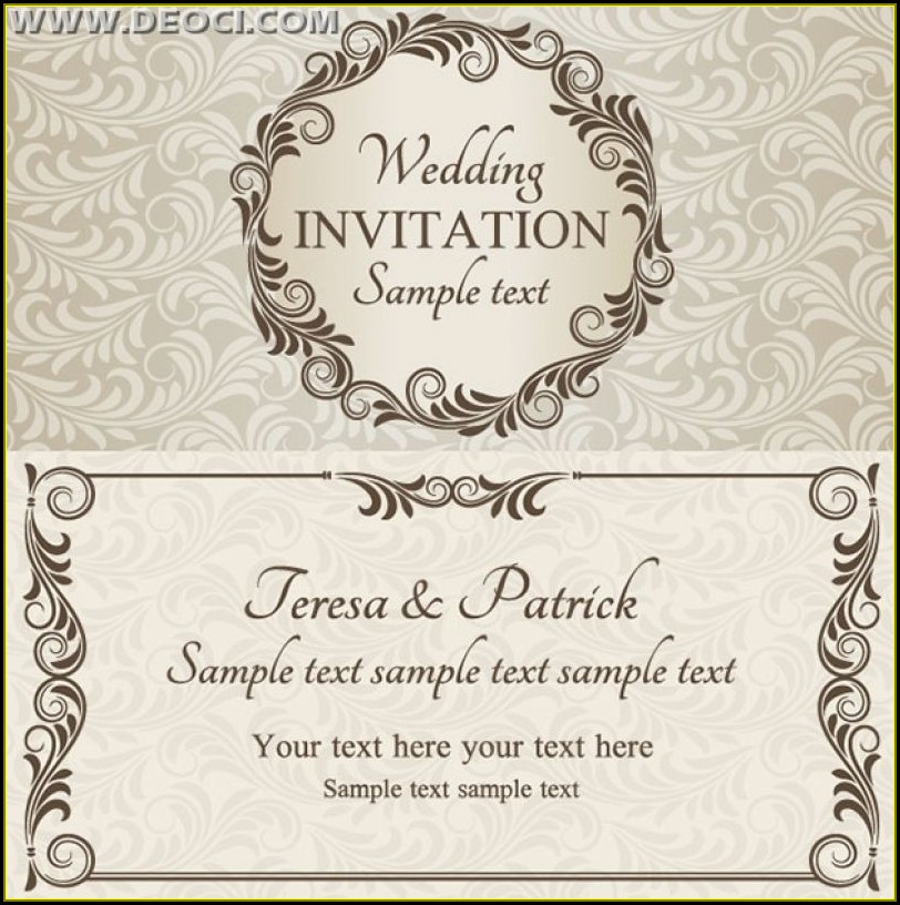 Wedding Card Invitation Templates Free Download