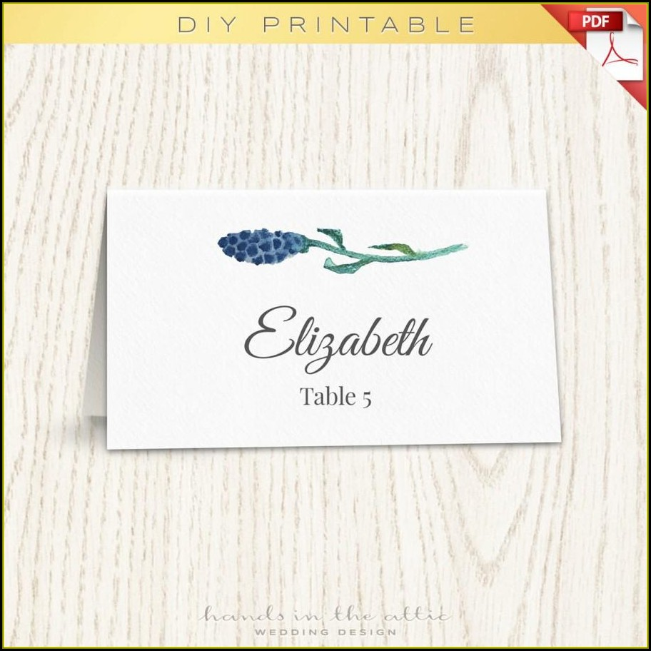 Wedding Escort Cards Template Free