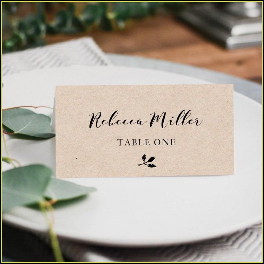 Wedding Escort Cards Template