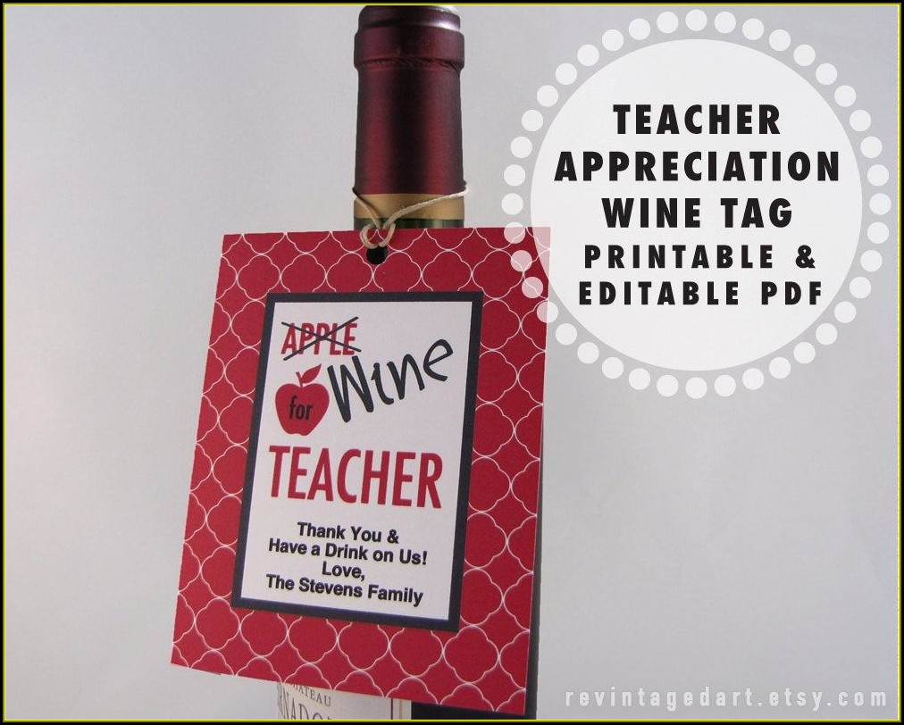 Wine Tag Templates Bottles