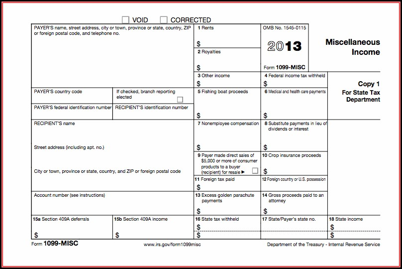 2013 Form 1099 Misc