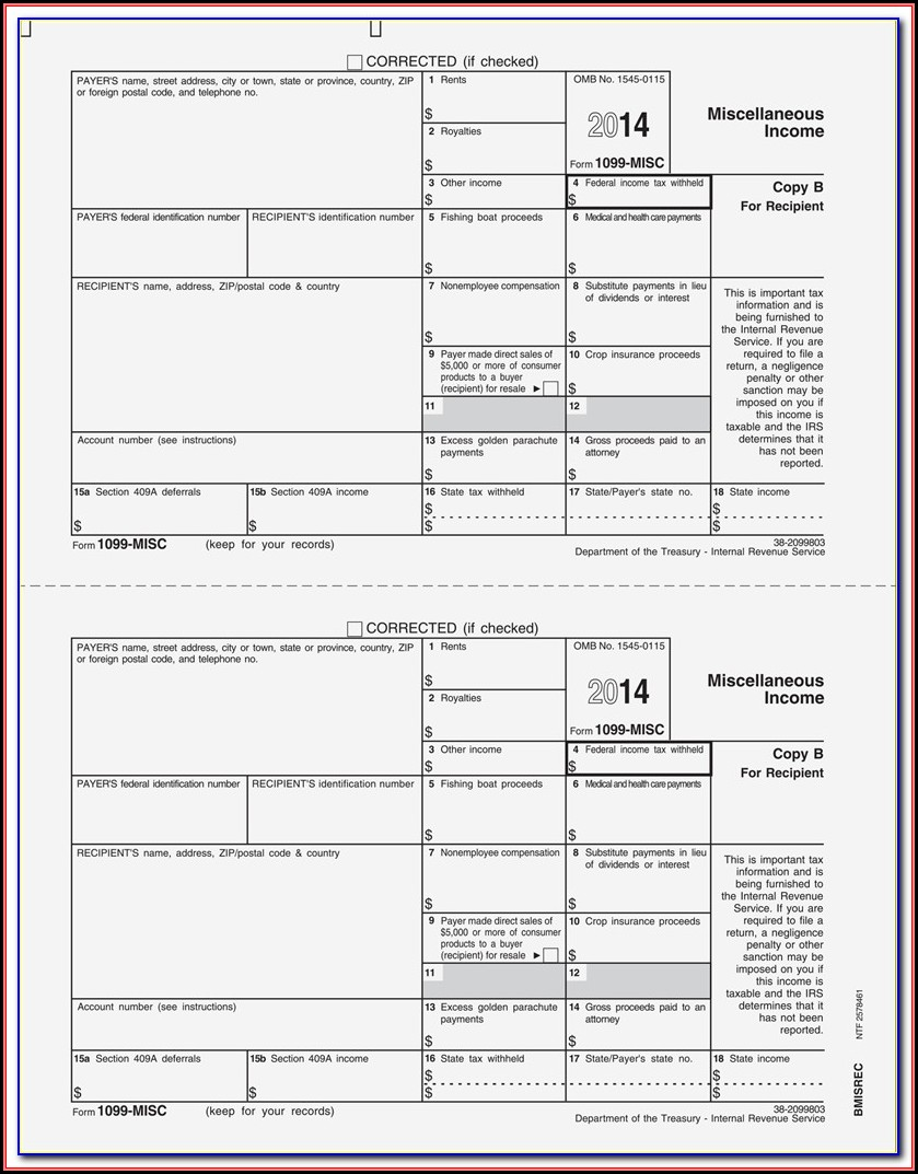 2014 Form 1099 Misc Instructions Pdf
