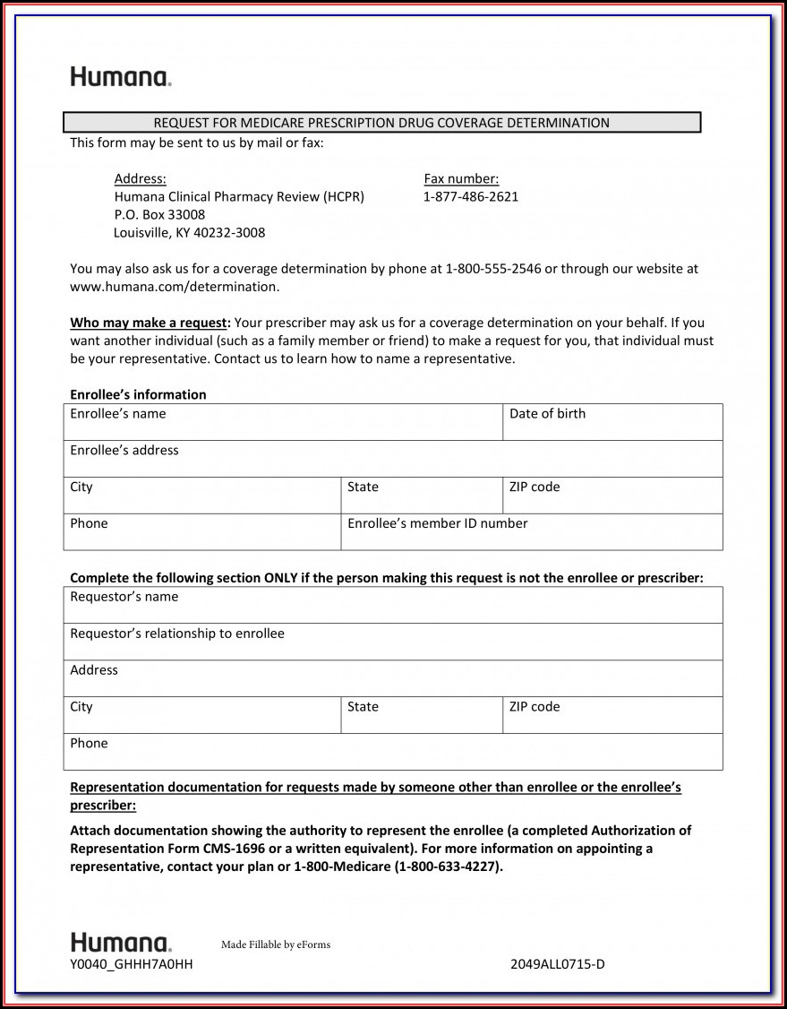 Aarp Medicare Part D Prior Authorization Form