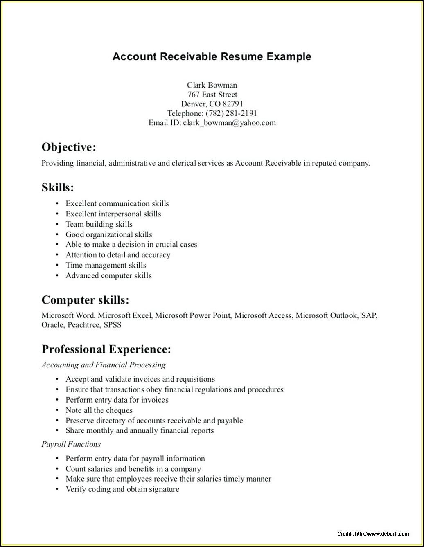 Accounts Payable Process Resume Format