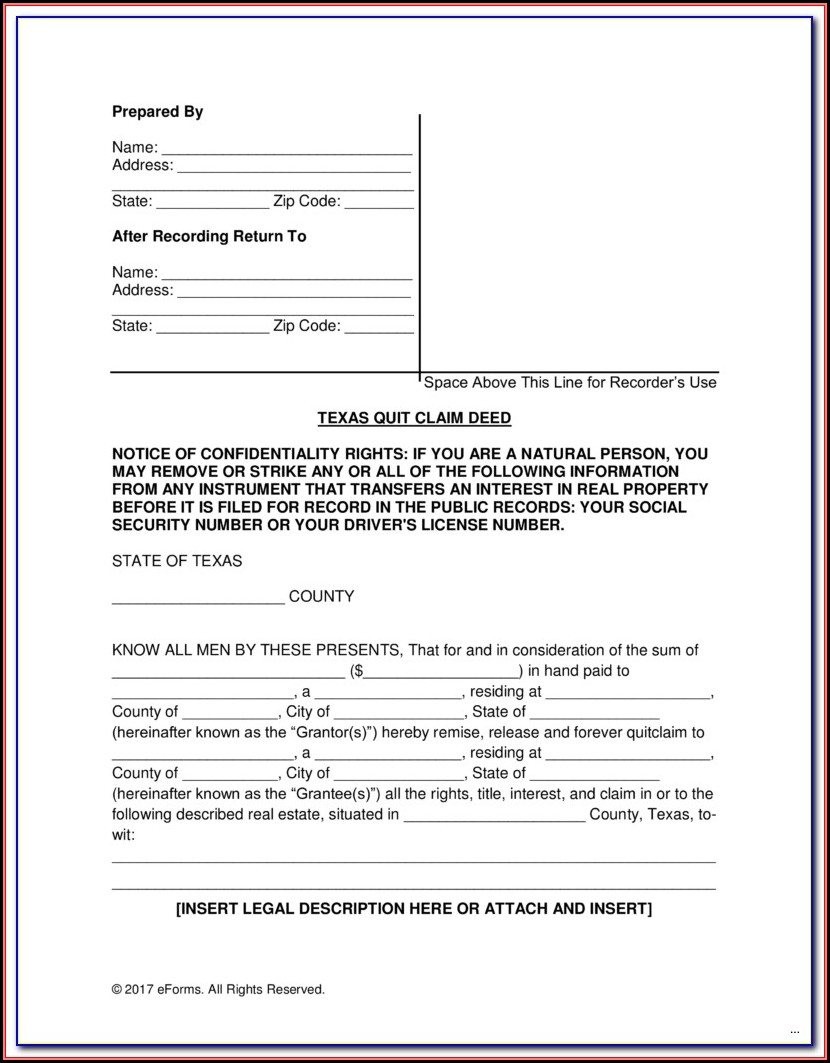 Adams County Colorado Quit Claim Deed Form