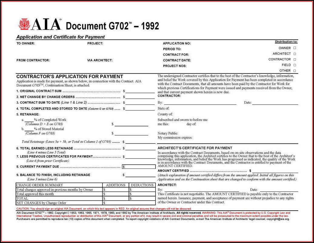 Aia Form G706a Free Download