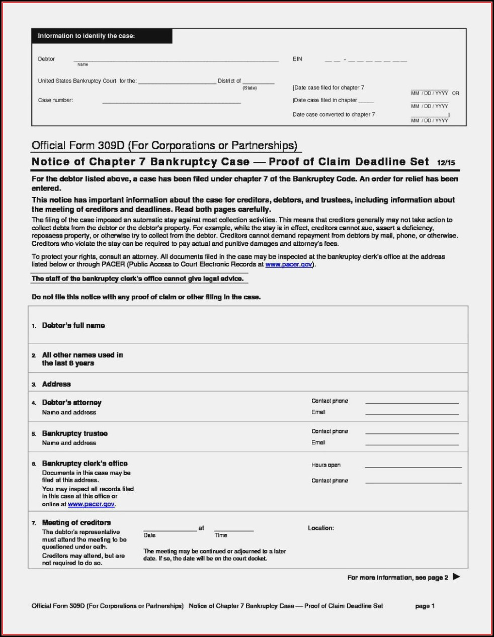 Chapter 13 Bankruptcy Forms Florida