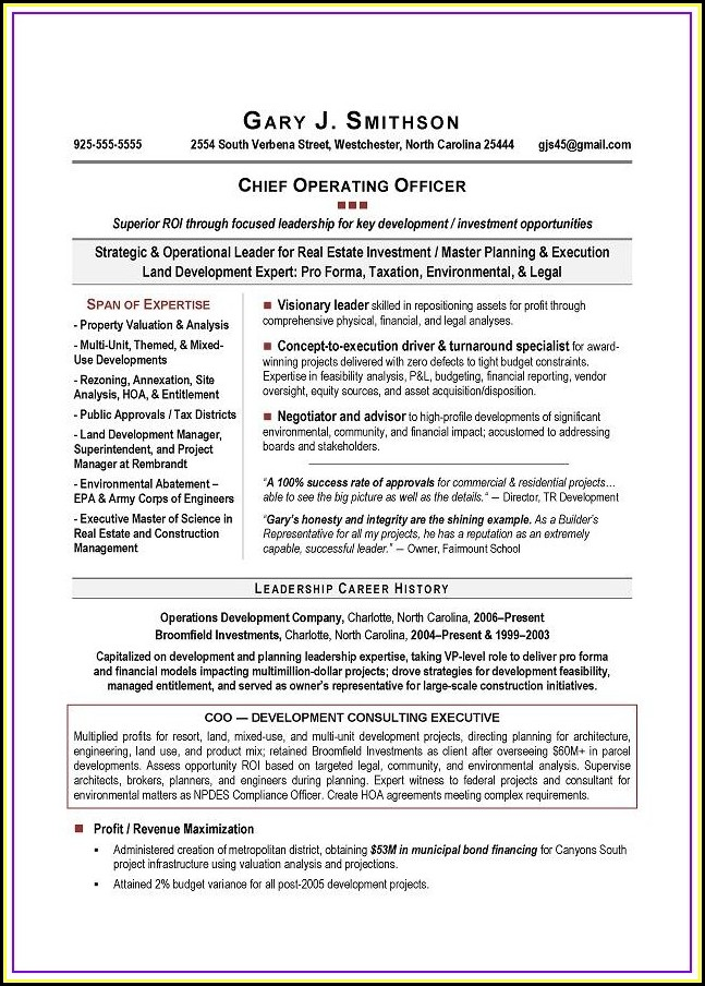 Executive Resume Writing Service San Diego