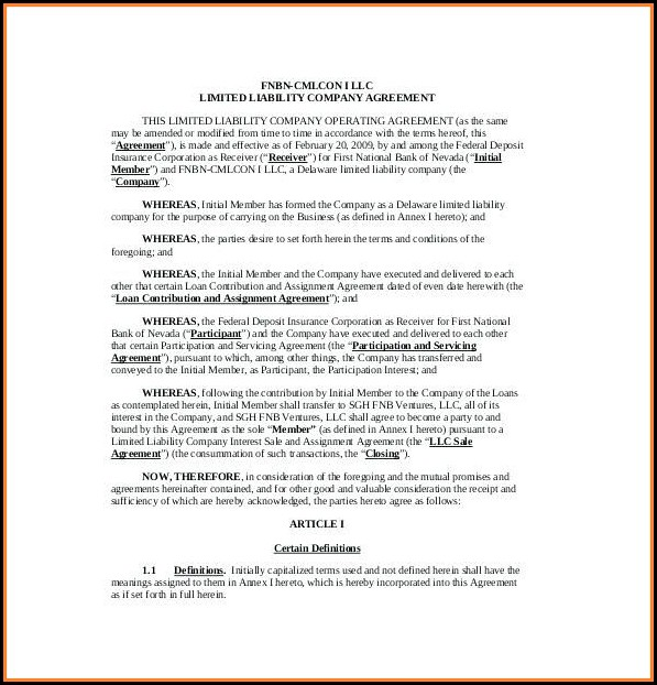 Free Llc Bylaws Template