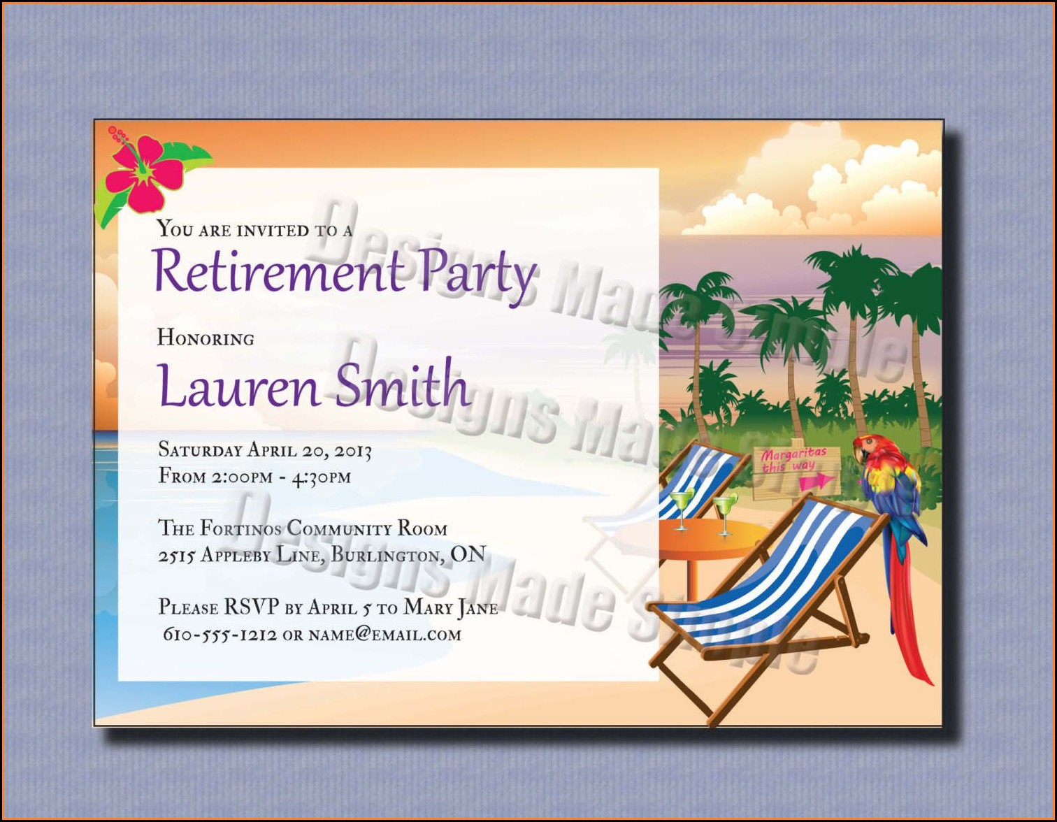 Free Military Retirement Invitation Template