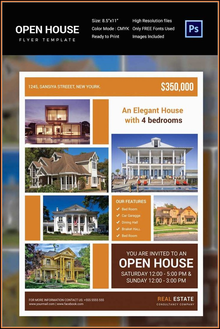 Free Open House Flyer Template Publisher