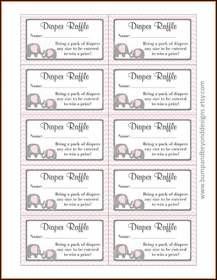 Free Printable Baby Shower Raffle Ticket Template Download