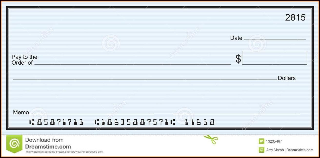 Free Printable Blank Checks Template
