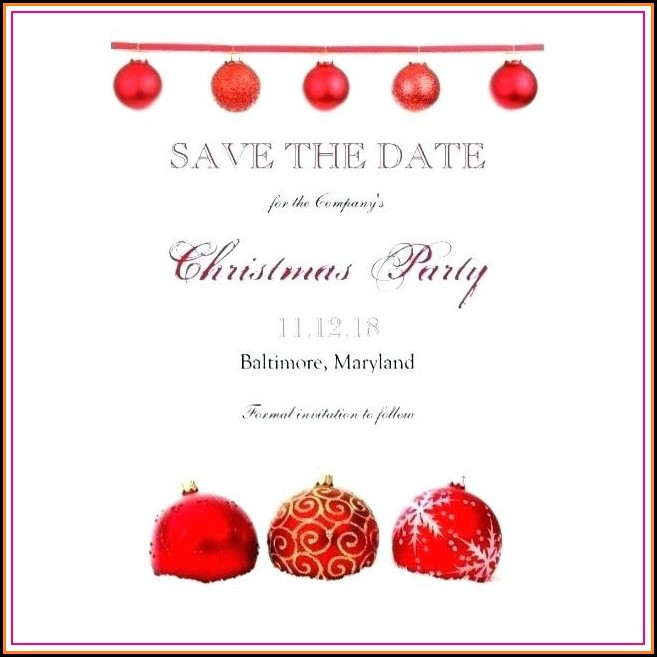 Free Printable Christmas Save The Date Templates
